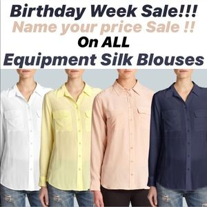 Birthday sale on All Equipment blouses !!!